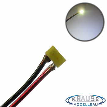 SMD-LED Typ 0201 warmweiss, diffuses Gehäuse mit Kupferlackdraht, 5 Stück