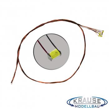 SMD-LED Typ 0603 eisblau, diffuses Gehäuse mit Kupferlackdraht, 5 Stück