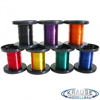 Kupferlackdraht, 1x0,15mm, Sortiment, 7 Farben je 100 Meter