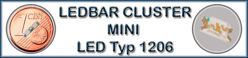 LEDBAR CLUSTER MINI LED Typ 1206