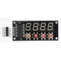 Mobile Preview: LED-BASIC-PICO 4 x 7-Segment-Anzeige und 4 Tasten