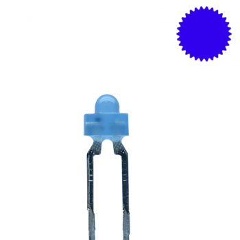 LED 1,8mm blau diffus blinkend 1,8 Hz