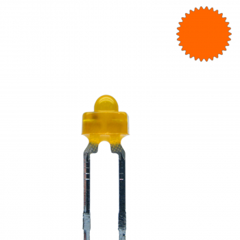LED 1,8mm orange diffus blinkend 1,8 Hz