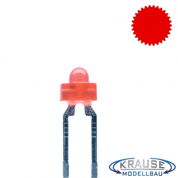 LED 1,8mm rot diffus blinkend 1,8 Hz