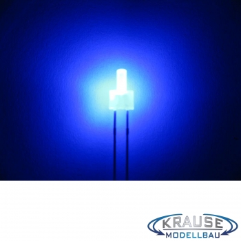 Tower LED lang 2mm blau diffus blinkend