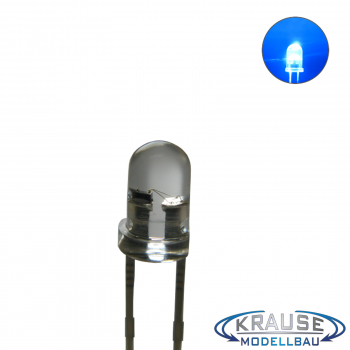 Flacker LED 3mm blau klar