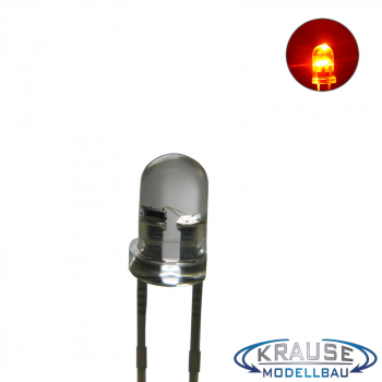 Flacker LED 3mm orange klar