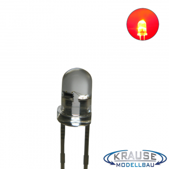 Flacker LED 3mm rot klar