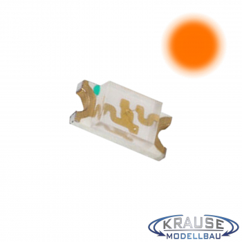 SMD-LED Typ 1206 orange, klares Gehäuse Serie 2