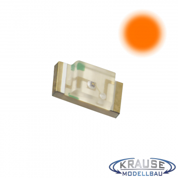 SMD-LED Typ 1206 orange, klares Gehäuse Serie 1