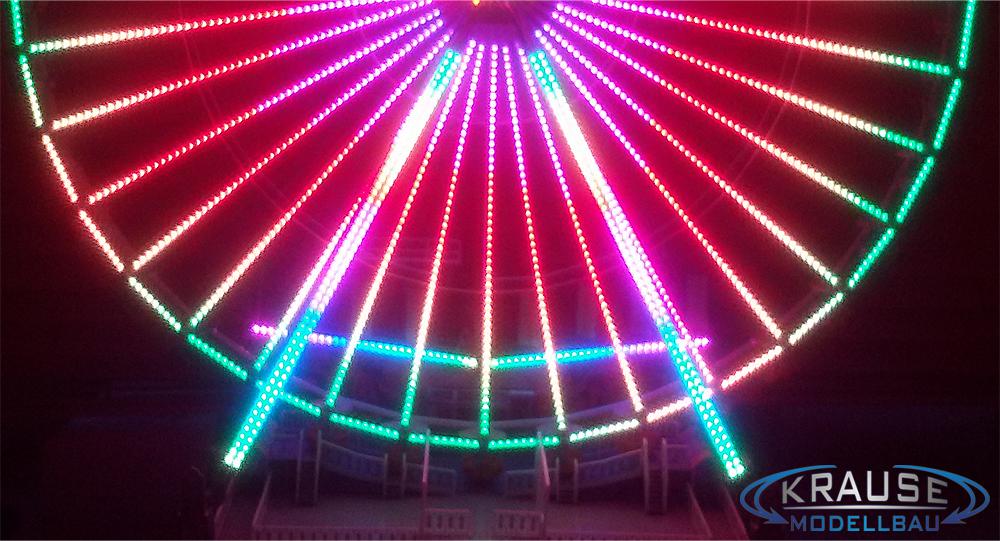 Beleuchtung Stützen Modell Jupiter Riesenrad, Zwei Leisten Je Stütze,  Adressierbare RGB Pixel LEDs