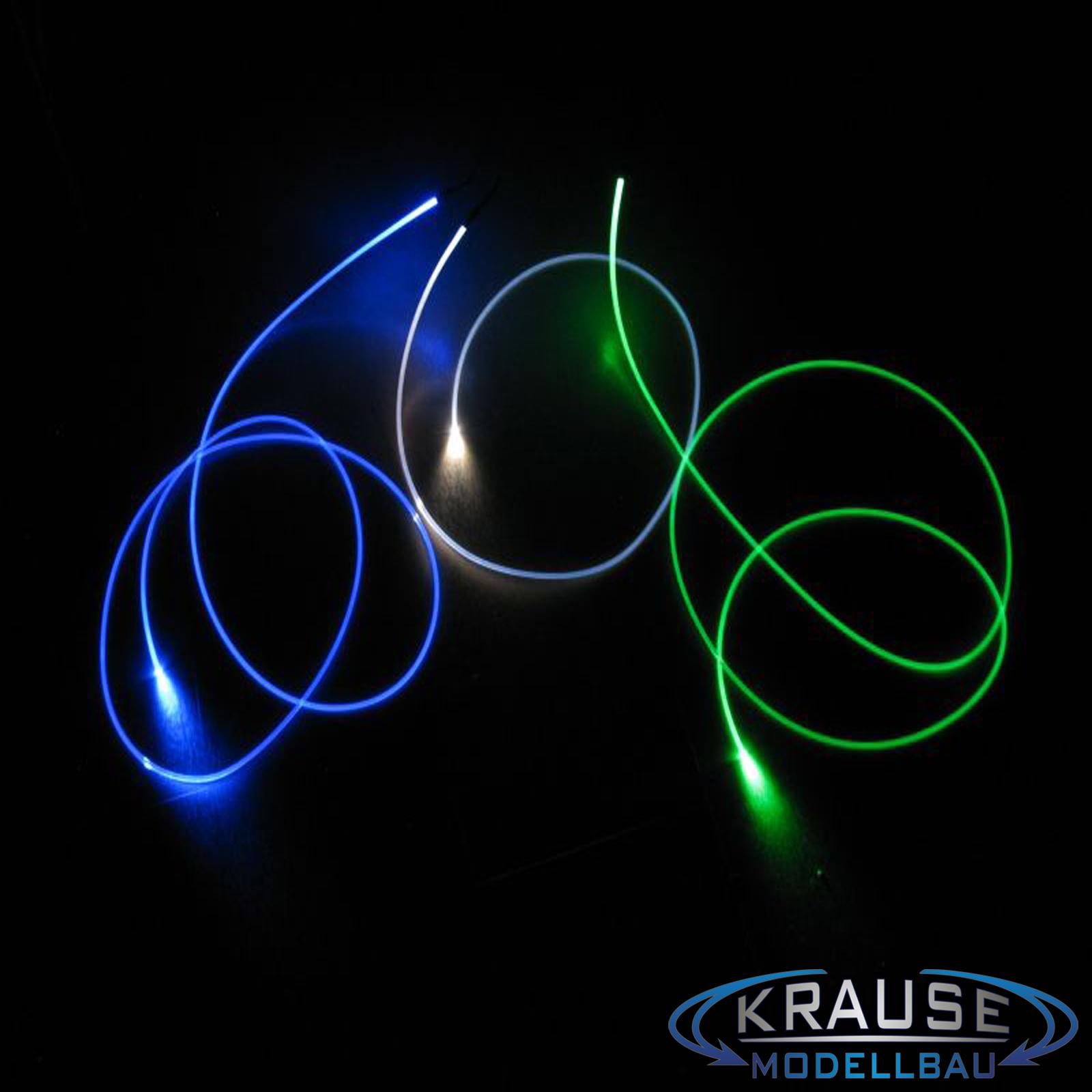 Lichtwellenleiter für LED Front flach Ø3,2mm rund  gerade FIX-LEM-135 Lichtleit