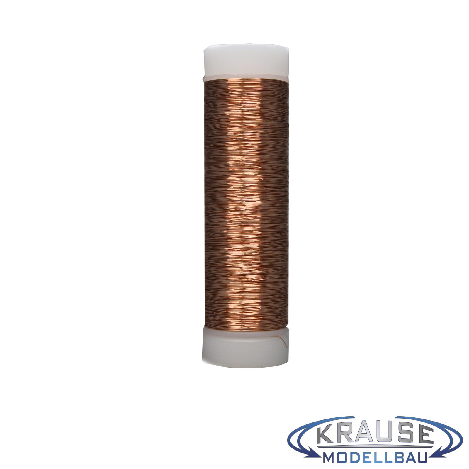 Kupferlackdraht CU Draht 0,15 mm auf Spule Modellbahn LED grün 100 Meter