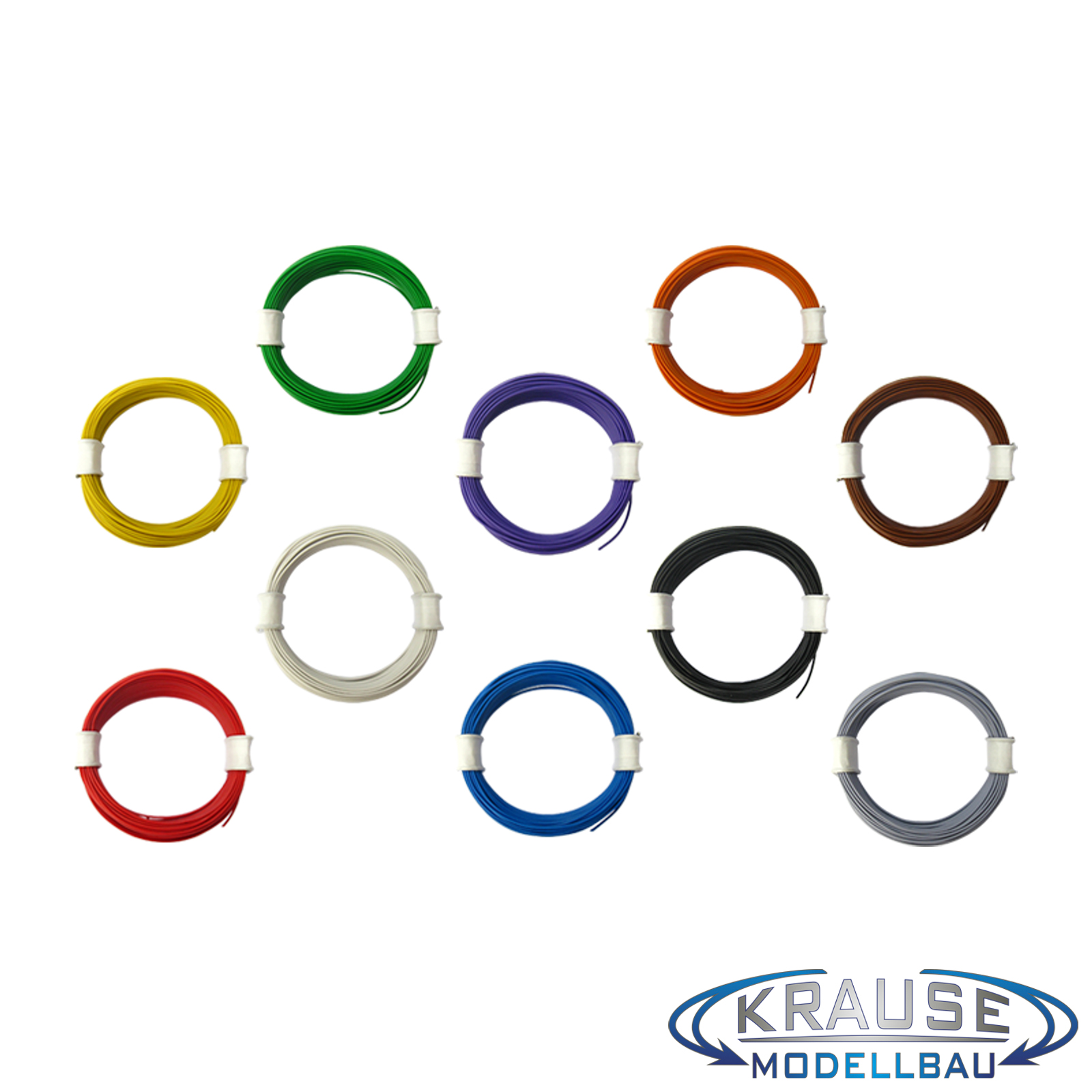 Schaltlitze Miniaturkabel 10 x 10 m Ring LIFY 0,05 mm² hochflexibel Sparset
