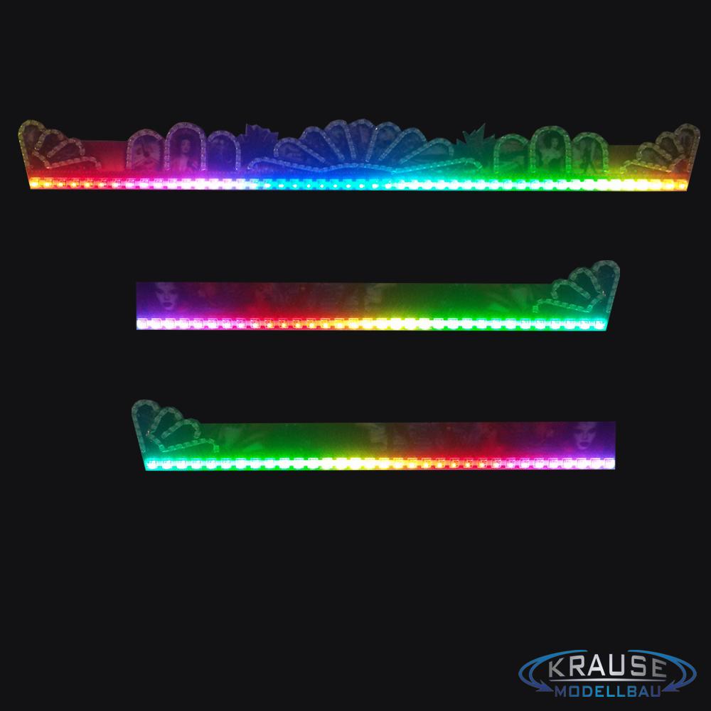 Beleuchtung Lichtleisten Dachblenden Modell Musik Express Adressierbare RGB  Pixel LEDs