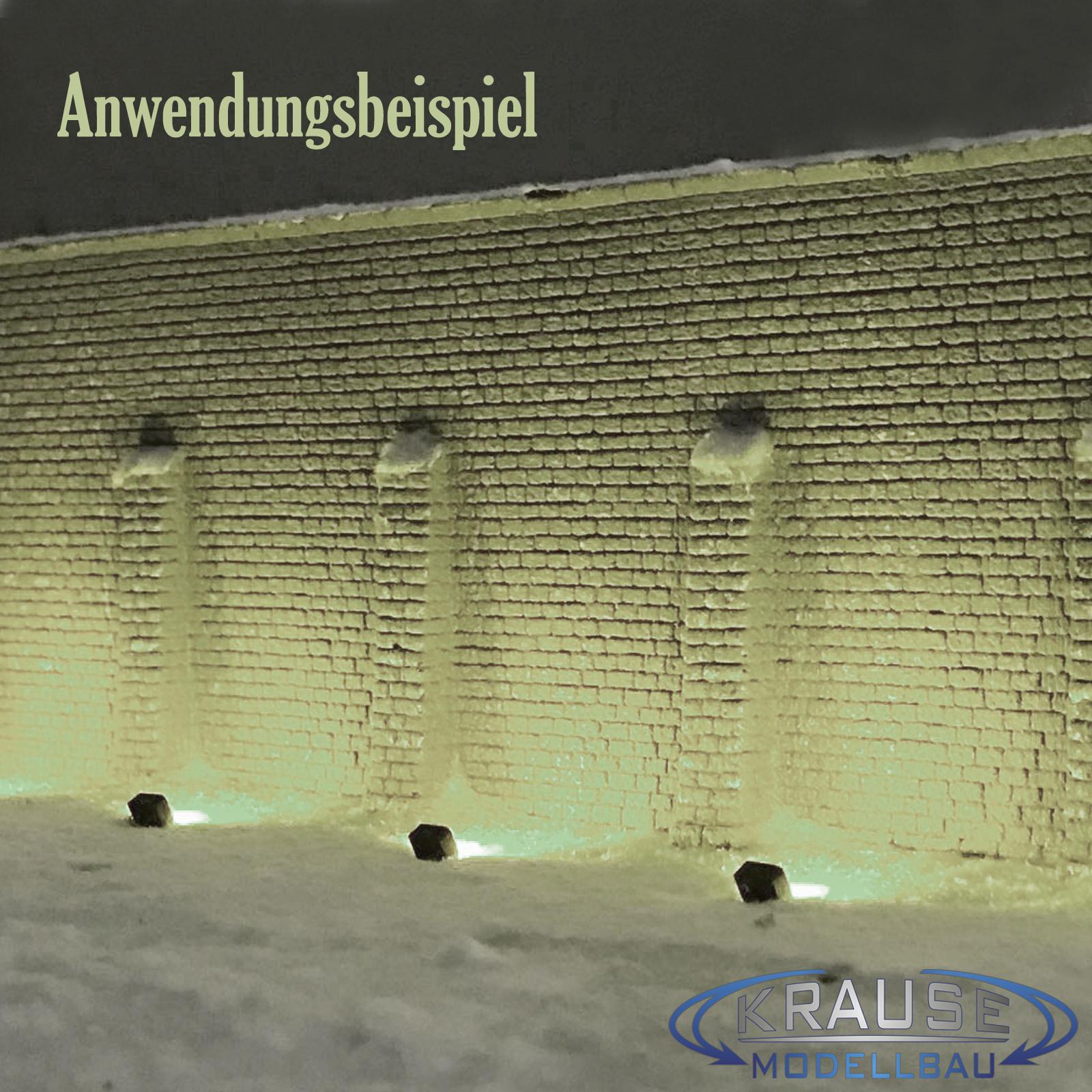 Miniatur LED Strahler warmweiss 4 x 3 mm 5 Stück für Faller Kirmes Modellbahn