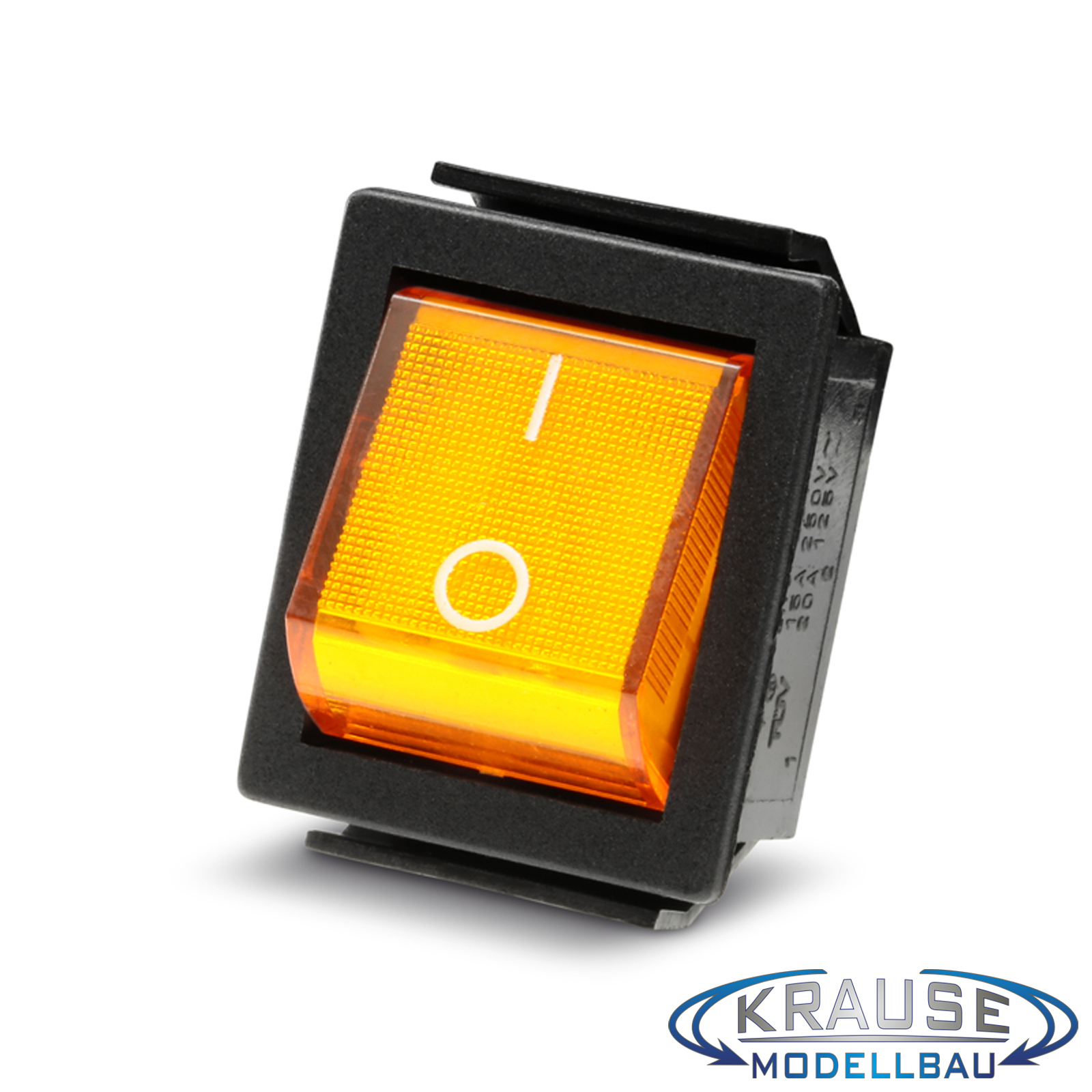 Einbau Wippenschalter beleuchtet Netzschalter Einbauschalter 2-polig gelb 15A