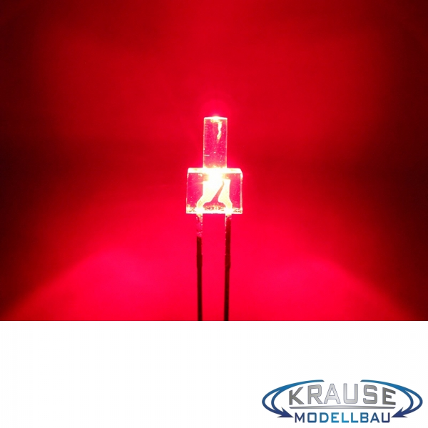 Tower LED lang 2mm rot klar