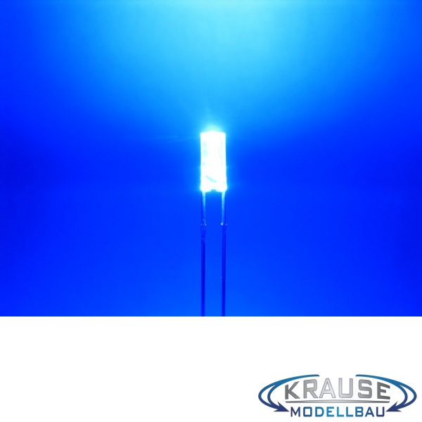 Zylinder LED 3mm blau klar