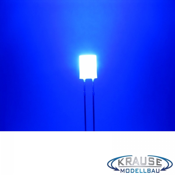 Zylinder LED 5mm blau diffus